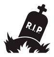 rip grave icon simple style vector image vector image