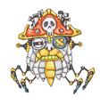 robot pirate head vector image vector image