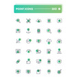 set of 30 line icons seo and smm vector image vector image
