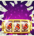 slot machine banner casino casino success vector image