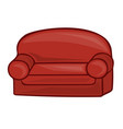 sofa isolated vector image vector image