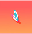 surfboard flat material design object vector image