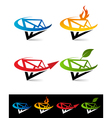 Swoosh Envelope Logo Icons vector image vector image