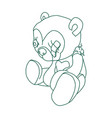 teddy bear icon isolated on white background from vector image vector image