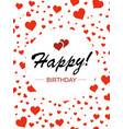 template design for vertical card happy birthday vector image vector image