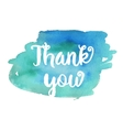 Thank you Inspirational motivational quote vector image