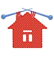 The house knitted on spokes vector image vector image