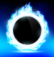 The ring burns blue flame vector image vector image