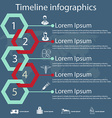 timeline infographics with medical icons vector image
