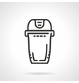 Trash can black line icon vector image
