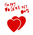 valentines day lettering hearts on a white vector image vector image