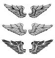 vintage wings vector image vector image