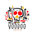 voodoo african and american magic logo with mystic vector image vector image