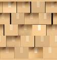 wall brown cardboard boxes seamless pattern vector image