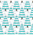 winter spruce seamless pattern fir forest in vector image vector image
