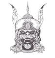 Hanuman Grunge print Vintage style vector image