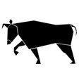 abstract low poly bull icon vector image