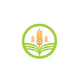 agriculture business logo template unique green