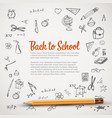 back to school - flyer or banner vector image