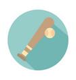 baseball bat ball sport block style vector image vector image