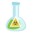 beaker with biohazard sign vector image vector image