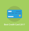 best credit card 2017 with green background and vector image