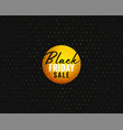 black friday sale banner template in creative vector image vector image
