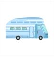 Blue Modern Travel Van vector image vector image