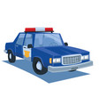 blue police car cartoon vector image vector image