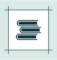 book icon education vector image vector image