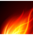 Burning Fire Background vector image vector image