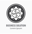 business solution icon vector image