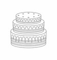 cake thin line style vector image