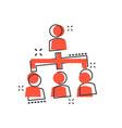 cartoon people corporate organization chart icon vector image vector image