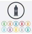 Condom safe sex sign icon Barrier contraceptive vector image vector image