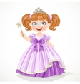 Cute little princess in purple dress and tiara vector image vector image