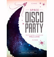 disco pasty poster on open space background vector image