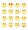 Emoticon set Collection of Emoji 3d emoticons vector image vector image