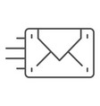 envelope sending thin line icon mail vector image vector image
