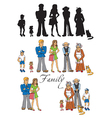 family people on white background vector image vector image