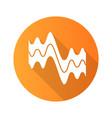 flowing wavy lines orange flat design long shadow vector image vector image