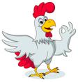 funny chicken posing vector image vector image