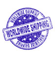 grunge textured worldwide shipping stamp seal vector image vector image