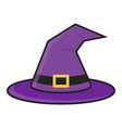 halloween magic witch hat with buckle vector image vector image