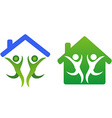 Happy family and home concept icon vector image vector image
