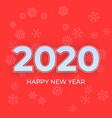happy new year 2020 logo text design cover of vector image vector image