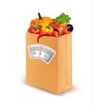Healthy diet Fresh food in a paper bag vector image