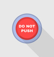 Industrial Red Button Do not press Flat Design