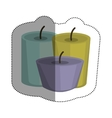 Isolated candle design vector image vector image