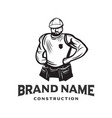 logo construction workers vector image